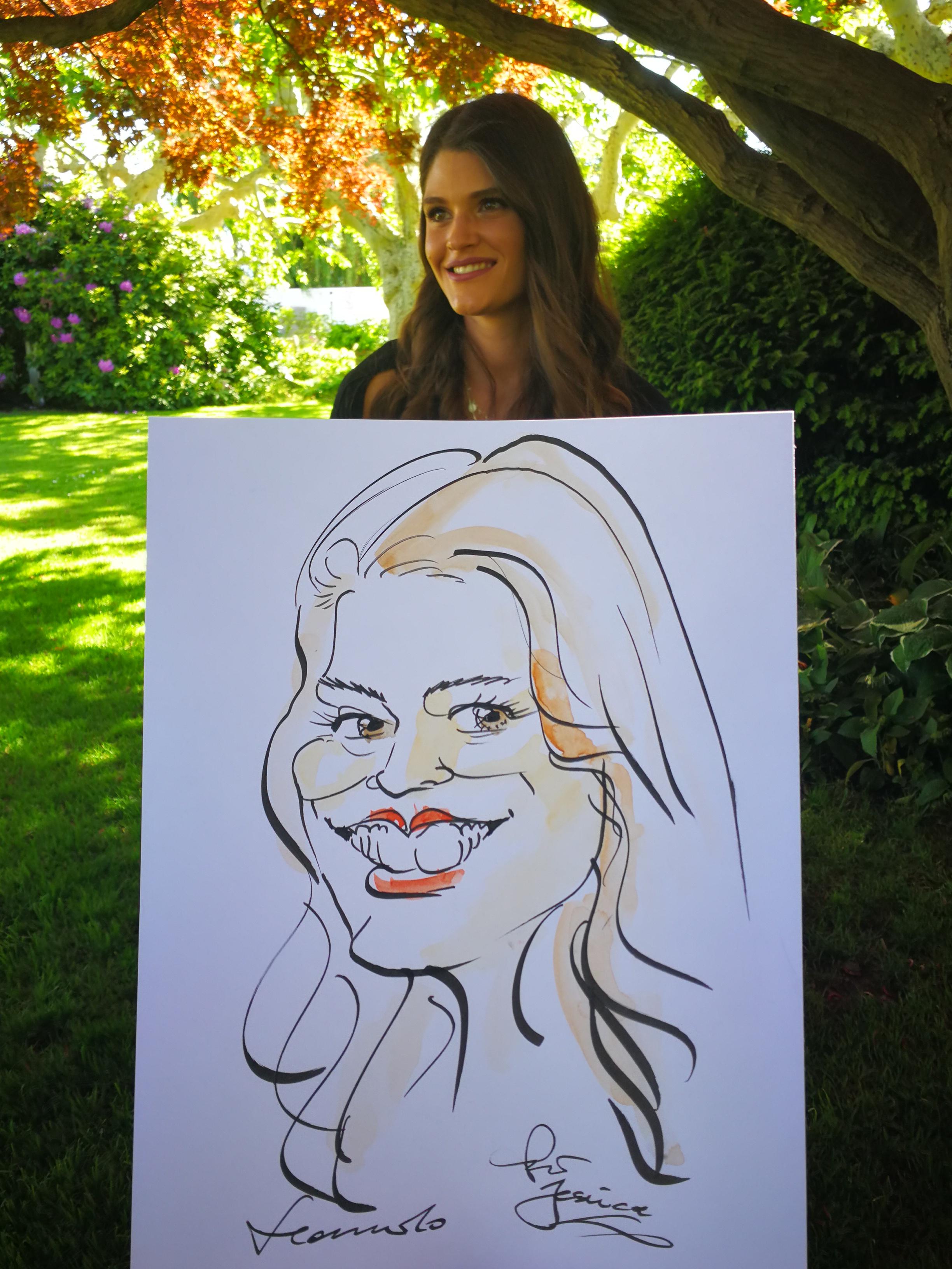 Hochzeit Karikaturist Portraitzeichner Schnellzeichner Hotel Baur au Lac Zürich