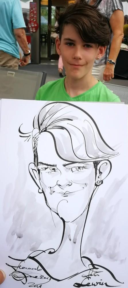 karikaturist für Hochzeit zug cham schnellzeichner team sport event artworx