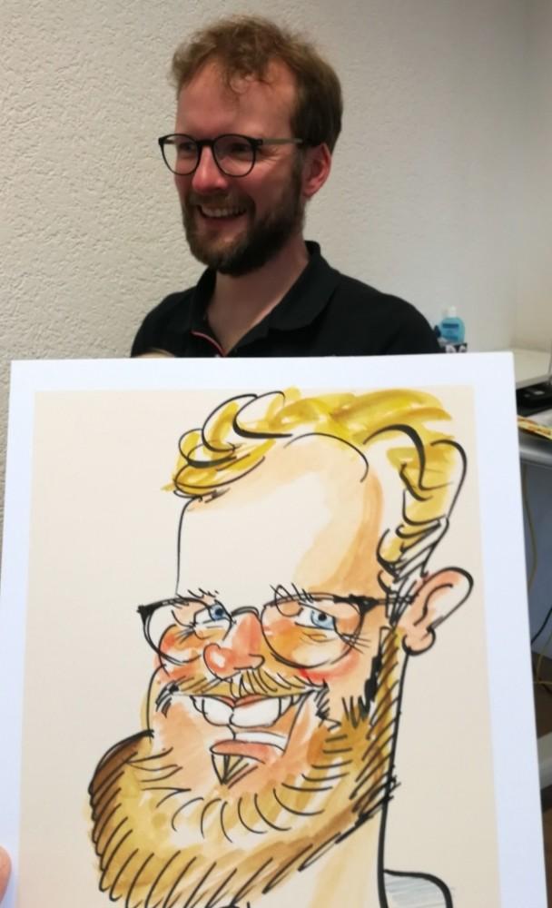 LEONARDO Portrait Karikaturist für Hochzeiten in Zürich Bern Basel Luzern Schweiz Zeichner Service