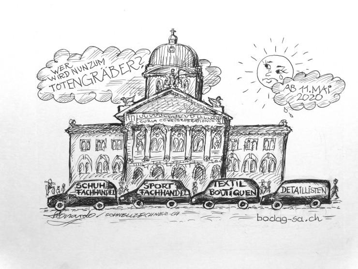 Karikatur vom Foto zeichnen lassen Karikaturist Bern Bundeshaus Schweiz Parlament SVP FDP SP Gruene